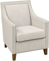 Classic Concepts Ellie Linen Armchair, Ivory