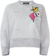 DSQUARED2 'Dean' punk patch sweater - women - Cotton/Polyester/Polyurethane/Viscose - XS