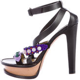 Etro Embellished Platform Sandals