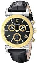Salvatore Ferragamo Men's FP1900014 Salvatore Analog Display Quartz Black Watch