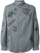 Golden Goose Deluxe Brand patched shirt - men - Cotton/Polyester/Acetate/Cupro - XS