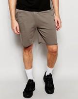 Asos Jersey Shorts In Light Brown