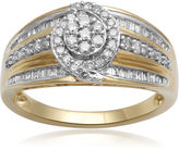 JCPenney FINE JEWELRY diamond blossom 1/2 CT. T.W. Diamond 10K Yellow Gold Cluster Ring