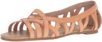 Blowfish Women's Dirry Flat Sandal Blonde Dyecut 7 M US