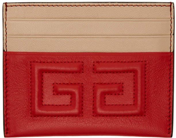 Givenchy Red Emblem 4G Card Holder