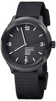 Mondaine MH1B1221NB Unisex Helvetica Nylon Strap Watch, Black