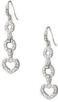 Pave Heart Drop Earrings