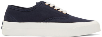 MAISON KITSUNÉ Navy Canvas Sneakers