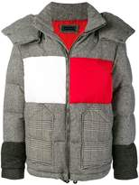 Down Jacket With Patchwork