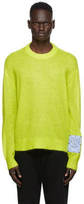McQ Green Mohair Crewneck Sweater