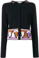 Emilio Pucci jacquard detail cardigan - women - Polyester/Viscose - S