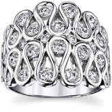 Sirena 1 CT. T.W. Diamond 14K White Gold Swirl Dome Ring