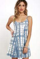 Billabong Same Dance Blue Tie-Dye Dress