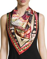 Salvatore Ferragamo Nirvana Silk Square Kaleidoscope Scarf, Multicolor