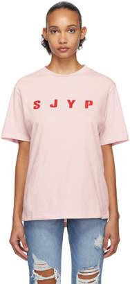 Sjyp SSENSE Exclusive Pink Logo T-Shirt