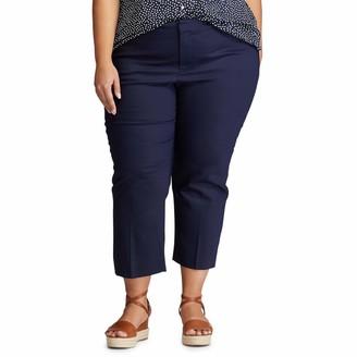 Chaps Women's Plus Size Skinny Double Cloth Pant