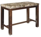 Signature Design by Ashley D567-13 Kraleene Collection Counter Height Dining Room Table, Dark Brown