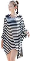 Simplicity Women's Cover-Up Stripe Design Chiffon Beachwear Oversized Bikini Swimwear