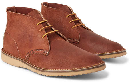 Red Wing Shoes Weekender Brushed-Leather Chukka Boots - Men - Brown