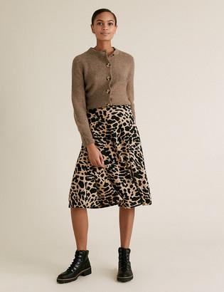 Marks and Spencer Jersey Animal Print Midi Skater Skirt