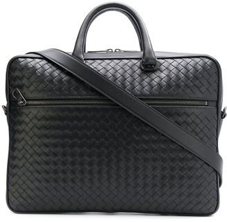 Bottega Veneta intrecciato weave leather briefcase