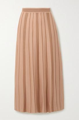 Loro Piana Essaouira Cashmere And Silk-blend Midi Skirt - Camel
