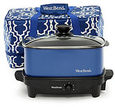 West Bend 5-Quart Versatility Slow Cooker with Transport Tote & Lid