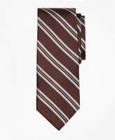 Brooks Brothers Houndstooth Stripe Print Tie