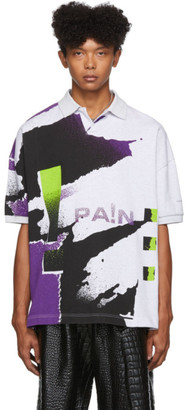 Alexander Wang Grey and Purple Compact Jersey Polo