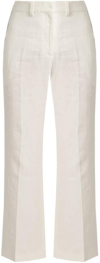 Calvin Klein Collection Lagen tailored linen trousers