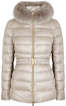 Herno Claudia fur-trimmed shell jacket