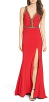 Mac Duggal Women's Chain Jersey Gown
