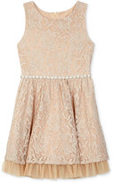 Amy Byer Gold Allover Lace Dress, Big Girls (7-16)