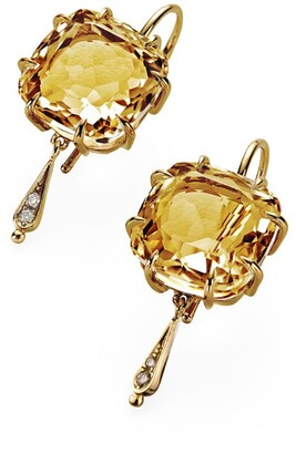 H.Stern Yellow Gold, Citrine and Diamond Moonlight Earrings