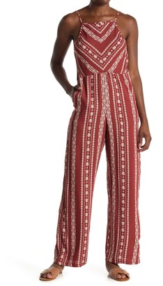 Angie Geo Print Low V-Back Jumpsuit
