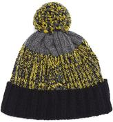 Paul Smith Accessories Lambswool Twisted-yarn Cable Knit Bobble Hat