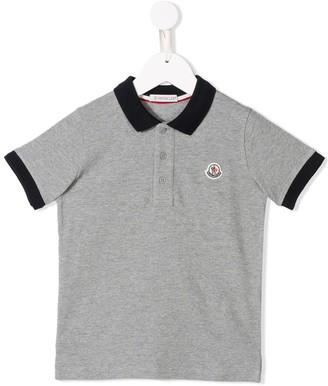 Moncler Enfant Contrast Trim Polo Shirt