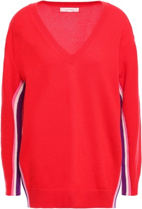 Parker Chinti & Striped Cashmere And Wool-blend Sweater