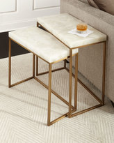 John-Richard Collection Taylor Brass Nesting Tables