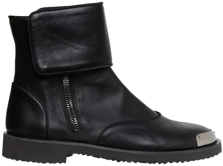 Giuseppe Zanotti Design Smooth Leather Boots W/ Metal Toe