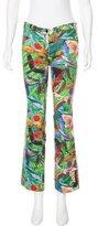 Altuzarra Low-Rise Tropical Print Pants