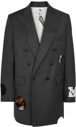 Off-White Meteor Grey Stretch-wool Blazer