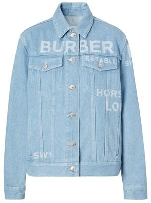 Burberry Horseferry Print Denim Jacket
