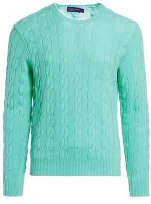Ralph Lauren Purple Label Cable Crewneck Sweater