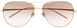 Linda Farrow Colt aviator sunglasses