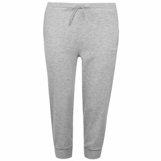 L.A. Gear Womens Three Quarter Interlock Jogging Pants Bottoms Trousers Grey Marl 14 (L)