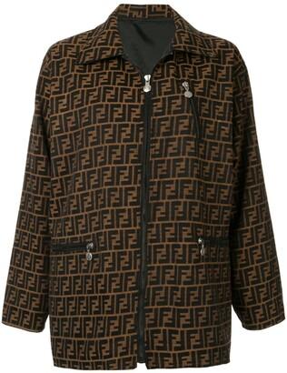 Fendi Pre Owned Zucca pattern long sleeve jacket