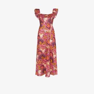 Zimmermann Fiesta paisley print ruffle midi dress