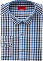 Alfani Men's Slim-Fit Stretch Ombrandeacute; Multi-Gingham Blue/Navy Dress Shirt, Created for Macy's