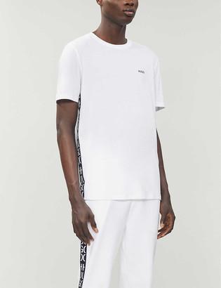 HUGO BOSS Logo-embroidered cotton-jersey T-shirt